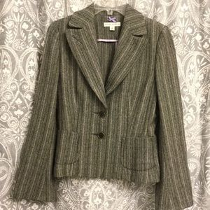 A black/grey jacket from Banana Republic - size 8